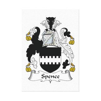 Escudo de la familia de Spence Impresion En Lona