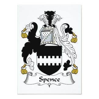 Escudo de la familia de Spence Invitación 12,7 X 17,8 Cm