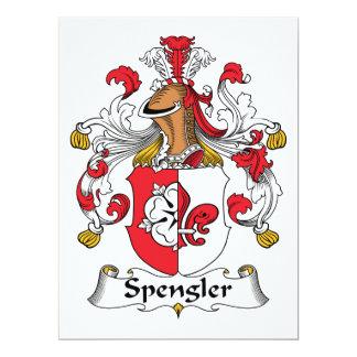 Escudo de la familia de Spengler Invitación 16,5 X 22,2 Cm