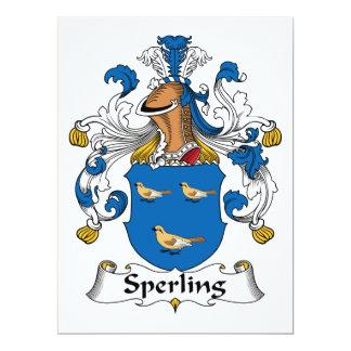 Escudo de la familia de Sperling Invitación 16,5 X 22,2 Cm