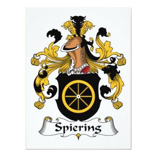 Escudo de la familia de Spiering Invitación 16,5 X 22,2 Cm