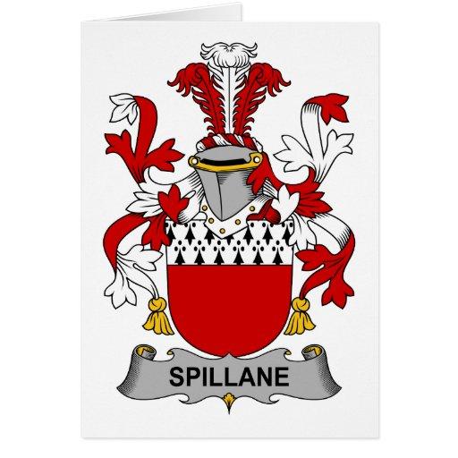 Escudo de la familia de Spillane Tarjetón