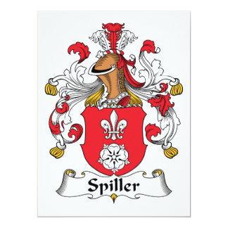Escudo de la familia de Spiller Invitación 16,5 X 22,2 Cm