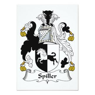 Escudo de la familia de Spiller Invitación 12,7 X 17,8 Cm