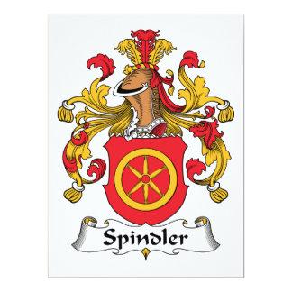 Escudo de la familia de Spindler Invitación 16,5 X 22,2 Cm