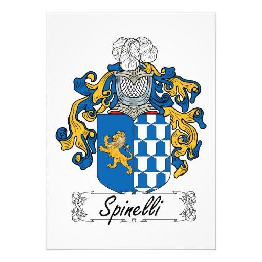 Escudo de la familia de Spinelli Invitaciones Personalizada