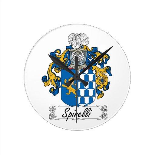 Escudo de la familia de Spinelli Reloj Redondo Mediano