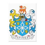 Escudo de la familia de Spinks Impresión En Lona Estirada