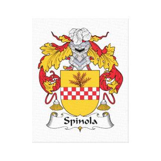 Escudo de la familia de Spinola Lona Envuelta Para Galerias