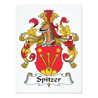 Escudo de la familia de Spitzer Invitación 16,5 X 22,2 Cm