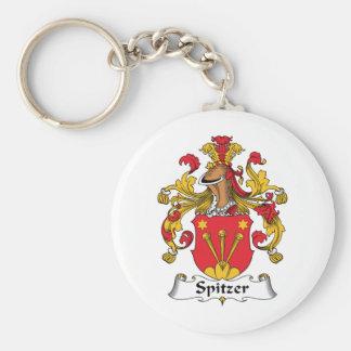 Escudo de la familia de Spitzer Llavero Redondo Tipo Pin
