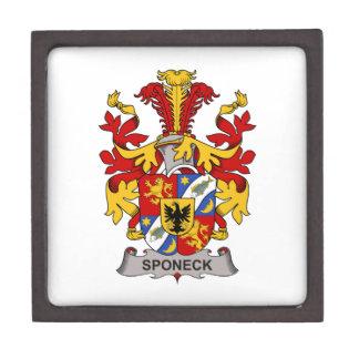Escudo de la familia de Sponeck Cajas De Regalo De Calidad