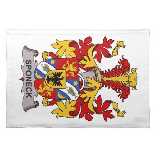Escudo de la familia de Sponeck Mantel Individual