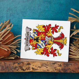 Escudo de la familia de Sponeck Placa De Madera