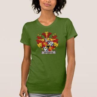 Escudo de la familia de Sponeck Camisetas