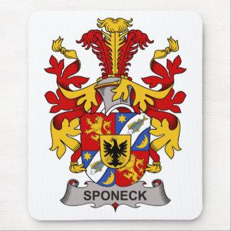 Escudo de la familia de Sponeck Tapetes De Ratón