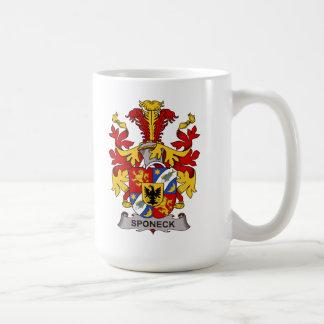 Escudo de la familia de Sponeck Taza De Café
