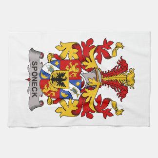 Escudo de la familia de Sponeck Toalla De Mano