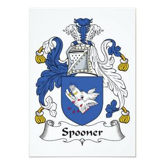 Escudo de la familia de Spooner Invitación 12,7 X 17,8 Cm