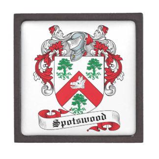 Escudo de la familia de Spotswood Cajas De Recuerdo De Calidad