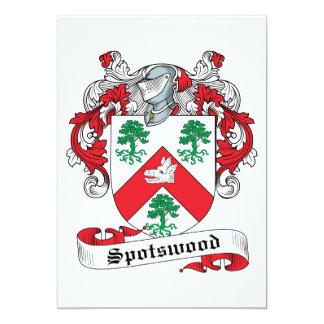 """Escudo de la familia de Spotswood Invitación 5"""" X 7"""""""