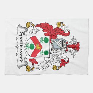 Escudo de la familia de Spottiswood Toallas De Cocina