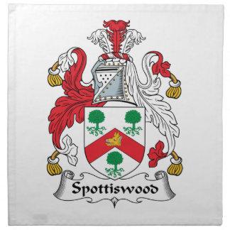 Escudo de la familia de Spottiswood Servilleta Imprimida