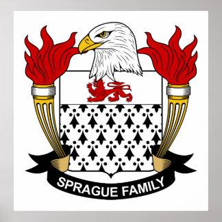 Escudo de la familia de Sprague Póster