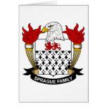 Escudo de la familia de Sprague Tarjeta