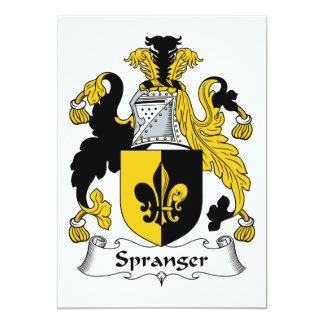 Escudo de la familia de Spranger Invitación 12,7 X 17,8 Cm