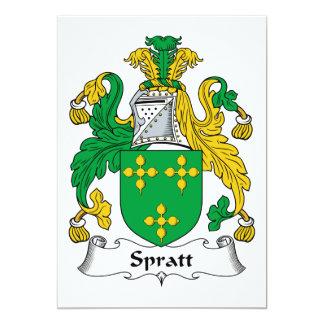 Escudo de la familia de Spratt Invitación 12,7 X 17,8 Cm