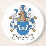 Escudo de la familia de Sprecher Posavasos Para Bebidas