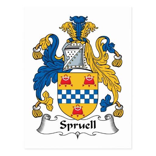 Escudo de la familia de Spruell Postal