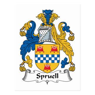 Escudo de la familia de Spruell Tarjetas Postales
