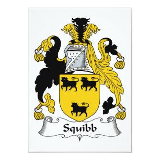 Escudo de la familia de Squibb Invitación 12,7 X 17,8 Cm