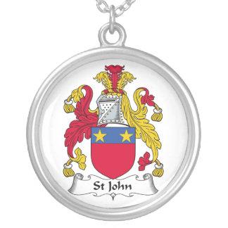 Escudo de la familia de St John Colgante Redondo