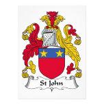 Escudo de la familia de St John Comunicados