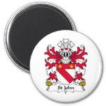 Escudo de la familia de St John Iman Para Frigorífico