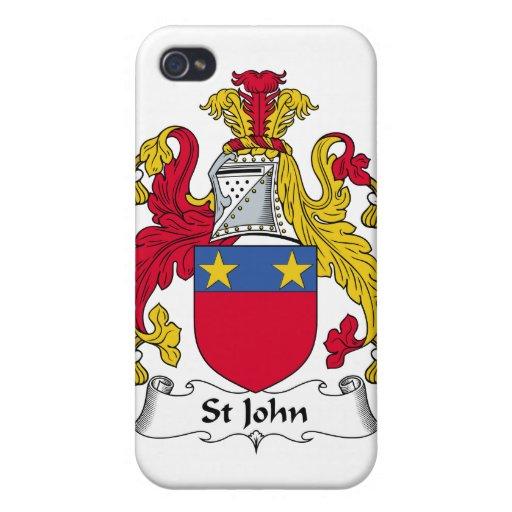 Escudo de la familia de St John iPhone 4 Cárcasa