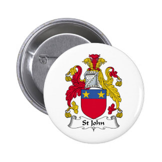Escudo de la familia de St John Pin Redondo 5 Cm