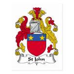Escudo de la familia de St John Postal