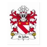 Escudo de la familia de St John Postales