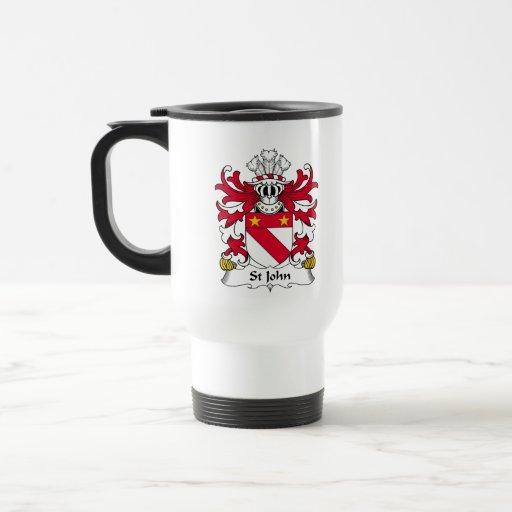 Escudo de la familia de St John Tazas De Café
