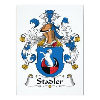 Escudo de la familia de Stadler Invitación 16,5 X 22,2 Cm
