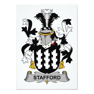 """Escudo de la familia de Stafford Invitación 5"""" X 7"""""""