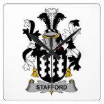 Escudo de la familia de Stafford Reloj
