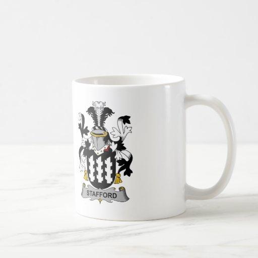 Escudo de la familia de Stafford Tazas De Café