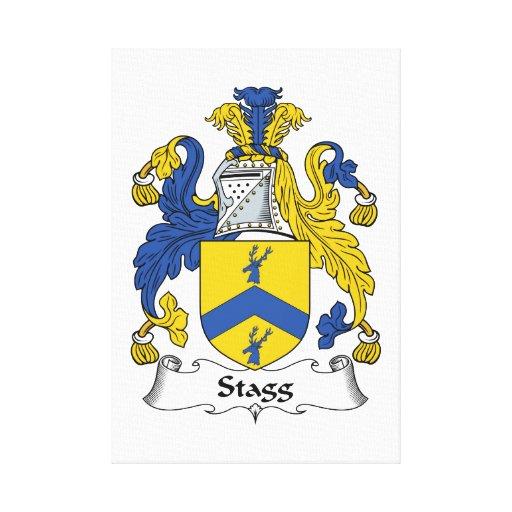 Escudo de la familia de Stagg Lona Envuelta Para Galerias