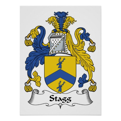 Escudo de la familia de Stagg Poster