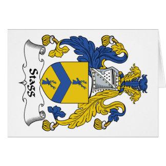Escudo de la familia de Stagg Tarjeta De Felicitación